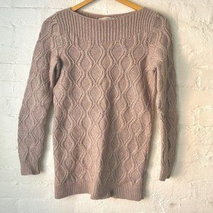 Loft Cable Knit Sweater Brown Size S